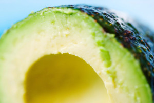 Close-up of a sliced avocado