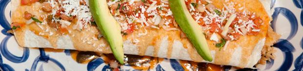 Burrito Menu for Casa Blanca Mexican Restaurant in Andover, MA