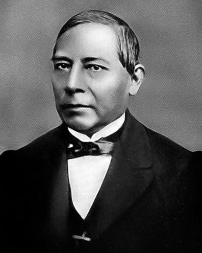 Black and white photo of Mexican President, Benito Juárez.